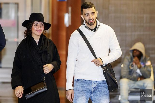 Sabrine Djermane et El Mehdi Jamali étaient de... (Alain Roberge, La Presse)