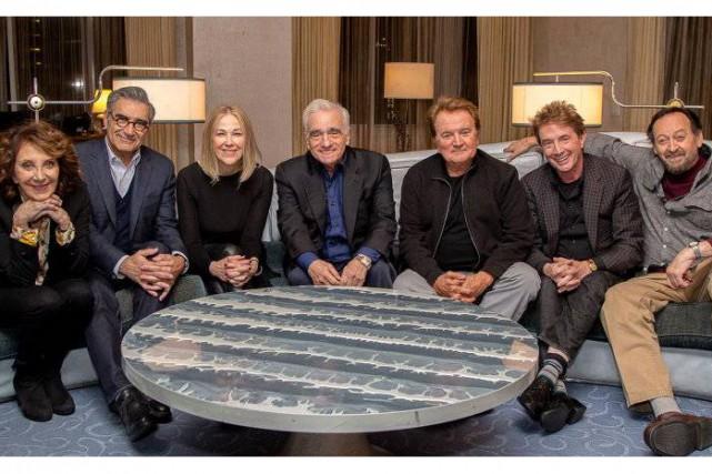 Martin Scorsese, au centre, est entouré d'Andrea Martin,... (Photo fournie par Netflix)