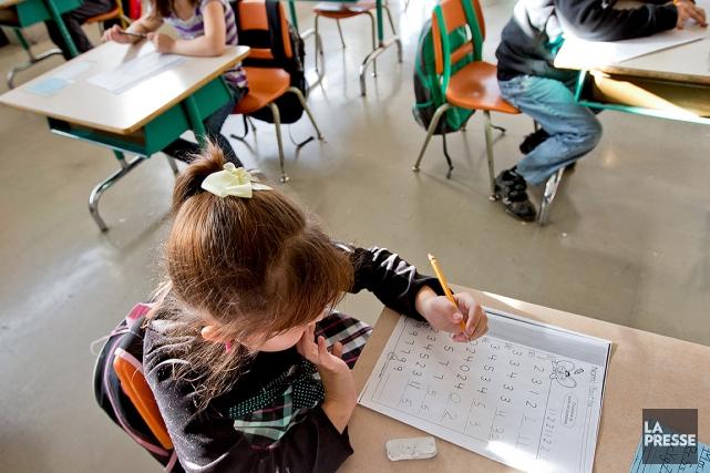 La convention collective nationale des enseignants du primaire... (Photo Alain Roberge, archives La Presse)