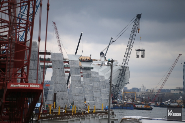 Le chantier du futur pont Champlain.... (Photo Martin Chamberland, La Presse)