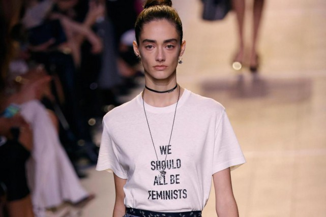 Le t-shirt «We Should All Be Feminists» de... (photo FRANÇOIS GUILLOT, archives agence france-presse)
