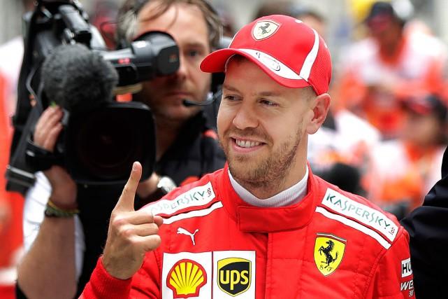 Sebastian Vettel a décroché la52epole de sa carrière... (PHOTO ANDY WONG, ASSOCIATED PRESS)
