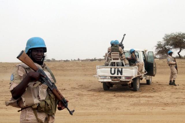 Déployée au Mali en juillet 2013, laMINUSMA, qui... (PHOTO ARCHIVES REUTERS)