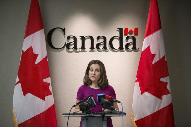La ministre des Affaires étrangères, Chrystia Freeland, a... (PHOTO PC)