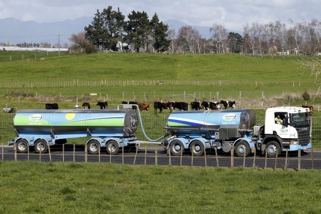La coopérative géante néo-zélandaise Fonterra, premier exportateur mondial... (Photo Nigel Marple, archives REUTERS)