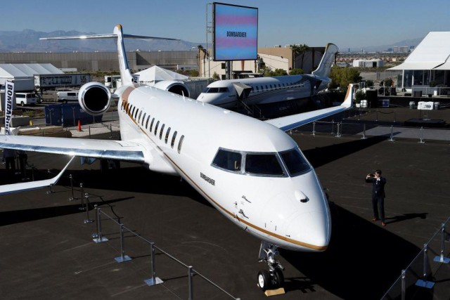 L'avion d'affaires Global 7000 de Bombardier... (Photo David Becker, archives Reuters)