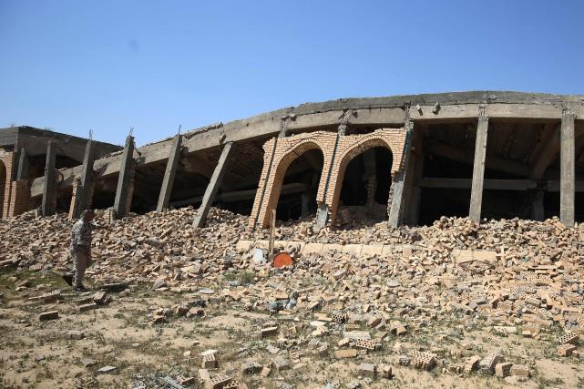 Aujourd'hui, de ce mausolée richement décoré, il ne... (Photo Ahmad Al-Rubaye, Agence France-Presse)