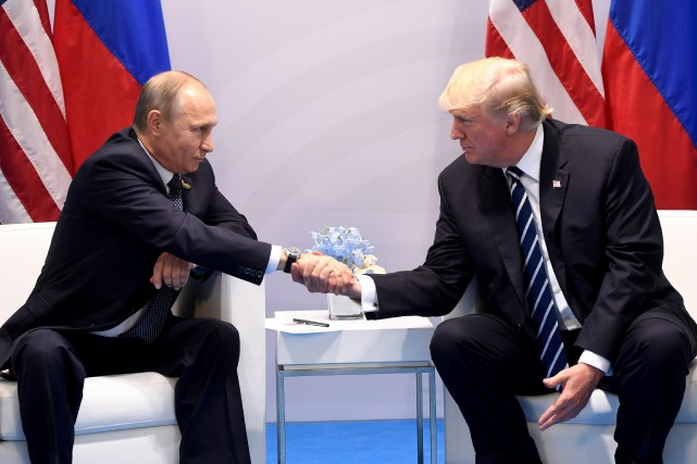 Vladimir Poutine et Donald Trump.... (Photo Saul Loeb, archives Agence France-Presse)