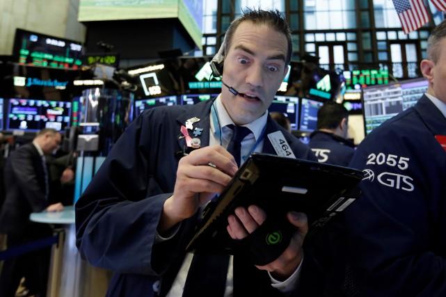 L'indice vedette de la Bourse de New York,... (ARCHIVES AP)