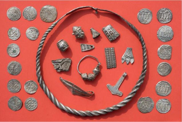 Le trésor est composé de centaines de pièces,... (Photo AFP)