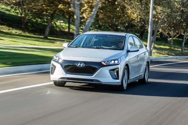 La Hyundai Ioniq tout électrique. Elle est aussi... (Photos Hyundai)