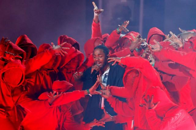 Kendrick Lamar lors d'une prestation aux Grammys.... (PHOTO ARCHIVES REUTERS)