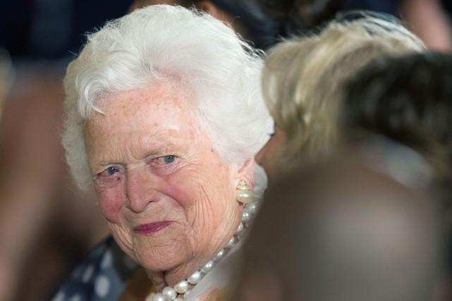 Mme Bush est actuellement chez elle, à Houston,... (ARCHIVES AFP)