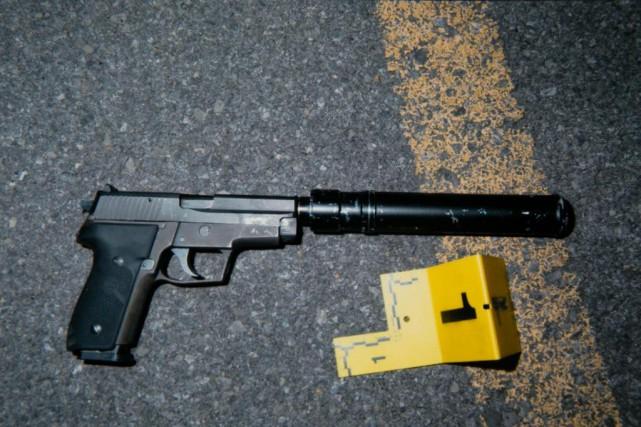 Le pistolet utilisé par Andy Duroseau lors de... (Photo François Roy, archives La Presse)