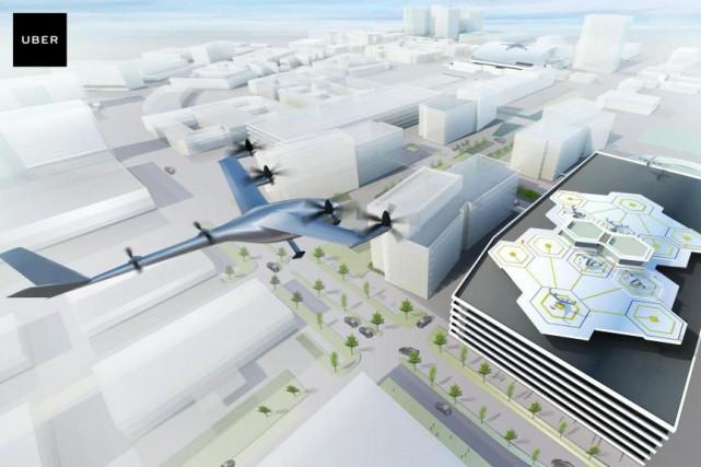Le projet de taxi aérienUber Elevate prévoit réaliser... (Image fournie par Uber)