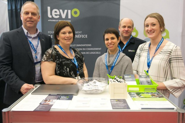 L'entreprise Levio était à L'événement carrière au Palais... (Photo François Roy, La Presse)