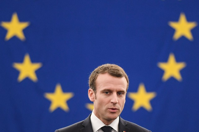 Emmanuel Macron... (Photo Frederick FLORIN, Agence France-Presse)