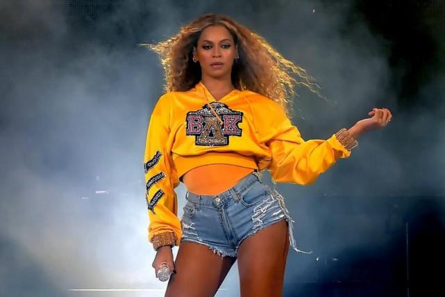 La prestation de Beyoncé àCoachella, samedi soir... (Photo tirée du fil Twitter de Coachella)