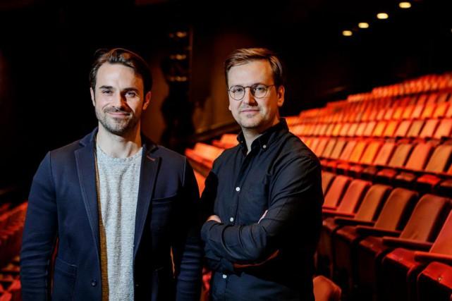 DavidLaurin et Jean-SimonTraversy, codirecteurs artistiques de Duceppe... (Photo Alain Roberge, La Presse)
