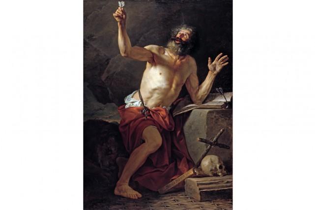 Saint Jérôme entendant la trompette du Jugement dernier,... (Image fournie par le Musée de la civilisation)