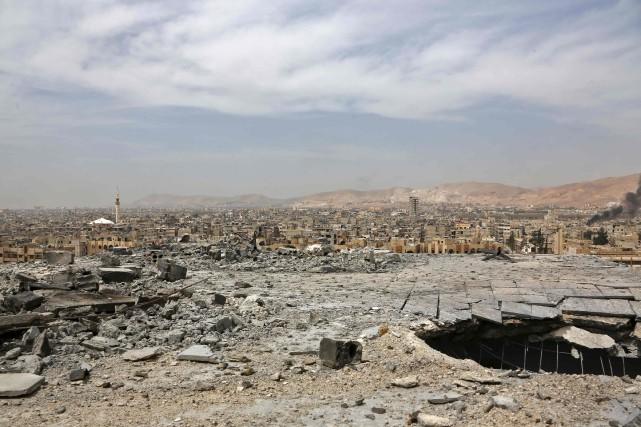 Une vue générale de Douma.... (Photo Agence France-Presse/Stringer)
