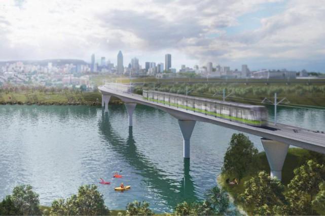 Le projet deRéseau express métropolitain (REM).... (IMAGE FOURNIE PAR LA CAISSE DE DÉPÔT)