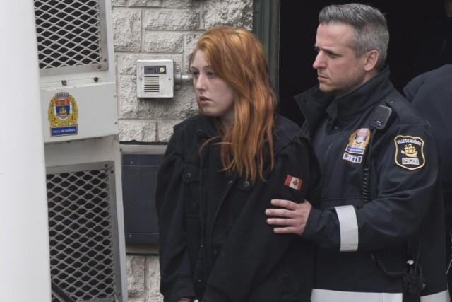 Audrey Gagnon accusée pour l'instant de méfait et d'entrave