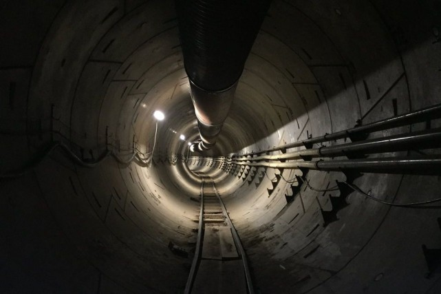 La représentation graphique d'un des tunnels envisagés par... (Image The Boring Company)