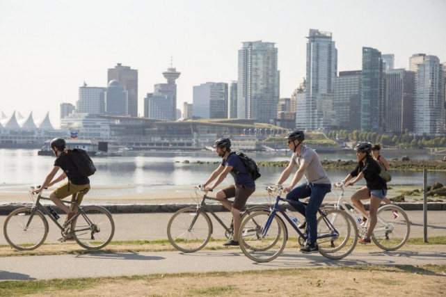 À Vancouver, le parc Stanley est connu pour... (Photo fournie par Cycle City Tours)