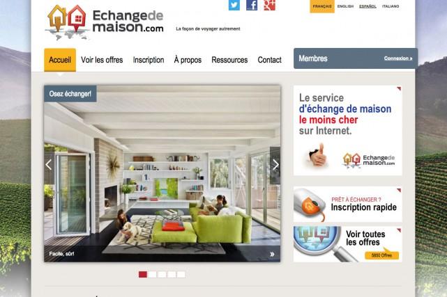 Le site canadien echangedemaison.com...