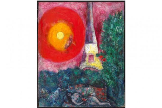 La tour Eiffel deMarc Chagall... (Photo fournie par le MBAC)