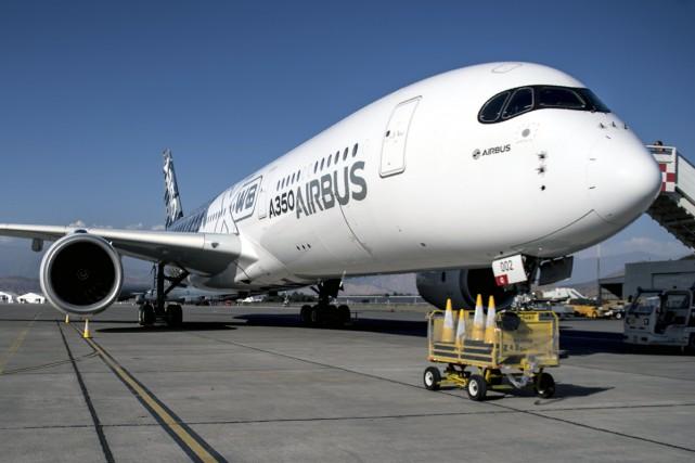 L'A350-900 Ultra Long Range, le long-courrier d'Airbus, est... (Photo AFP)