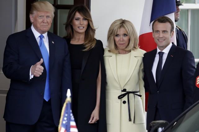DonaldTrump accueille EmmanuelMacron à la Maison-Blanche
