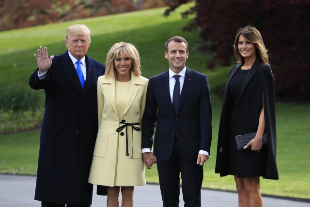 Trump et Macron affichent leur complicité à la Maison Blanche Nouvel Ordre Mondial, Nouvel Ordre Mondial Actualit�, Nouvel Ordre Mondial illuminati