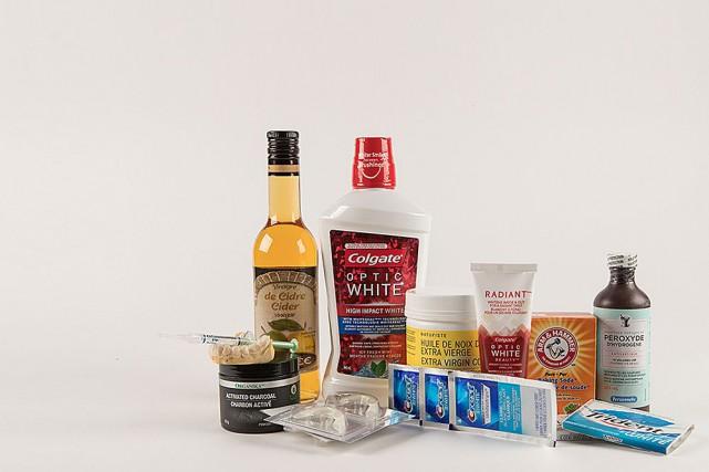 Un éventail de produits destinés à blanchir les... (Photo Ivanoh Demers, La Presse)