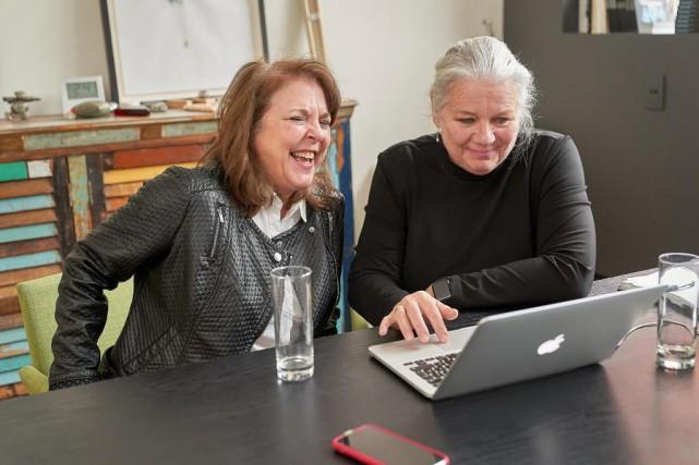 Dominique Drouin etAnne Boyer ont fait équipe pour... (Photo André Pichette, La Presse)