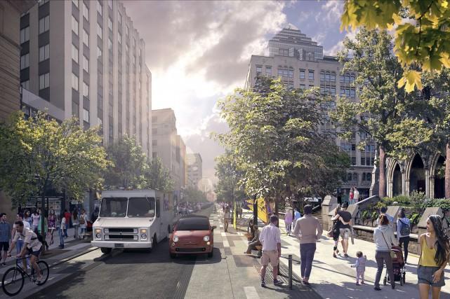 Монреаль: Благоустройство улицы Sainte-Catherine