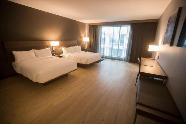 Les chambres sont simples, épurées et munies d'une... (Photo Ivanoh Demers, La Presse)