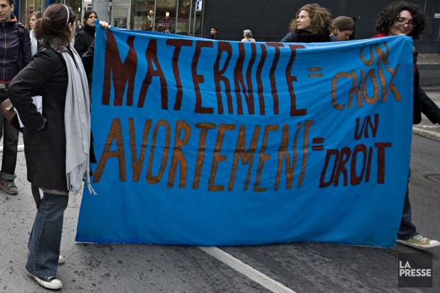 Un collectif féministe se mobilise dans le quartier Hochelaga pour faire sentir... (Photo François Roy, archives La Presse)