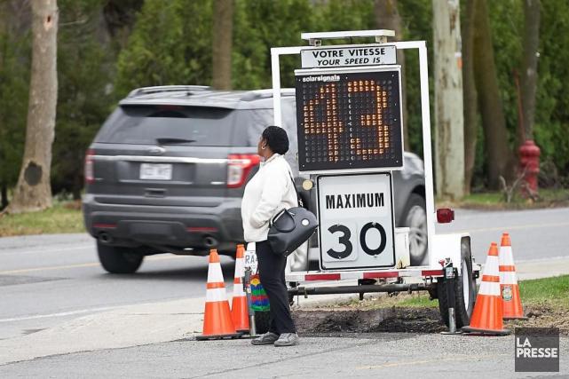 Malgré la diminution de la limite de vitesse... (André Pichette, La Presse)
