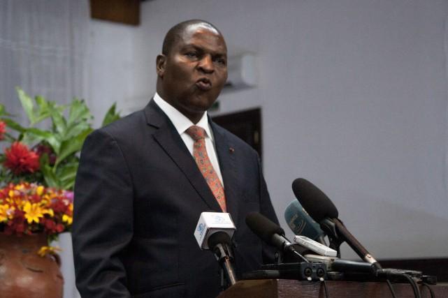 Le président centrafricain Faustin-Archange Touadéra... (Photo Florent Vergnes, Agence France-Presse)