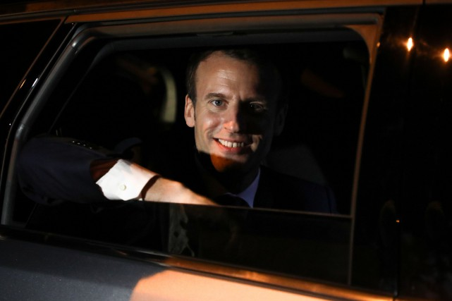 Emmanuel Macron... (Photo Ludovic Marin, Agence France-Presse)