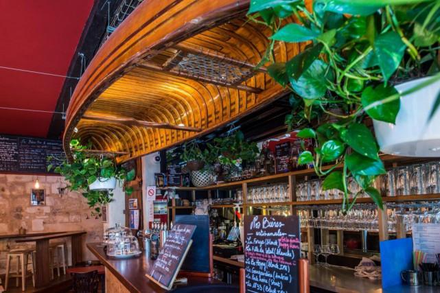 Le décor du restaurant Au Nouveau Monde... (Photo fournie par Étienne Charest)