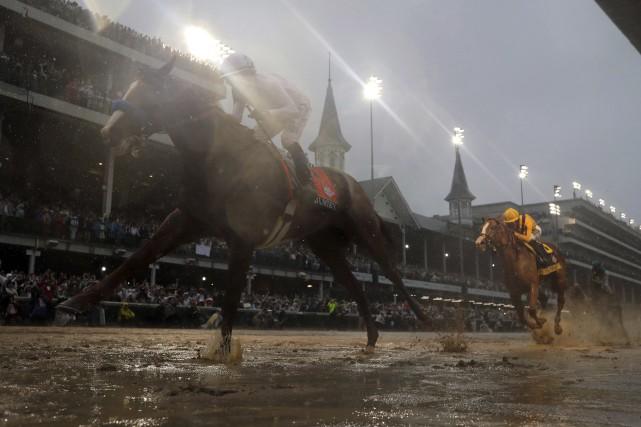 Justify a remporté le Derby dans des conditions... (PHOTO Morry Gash, AP)