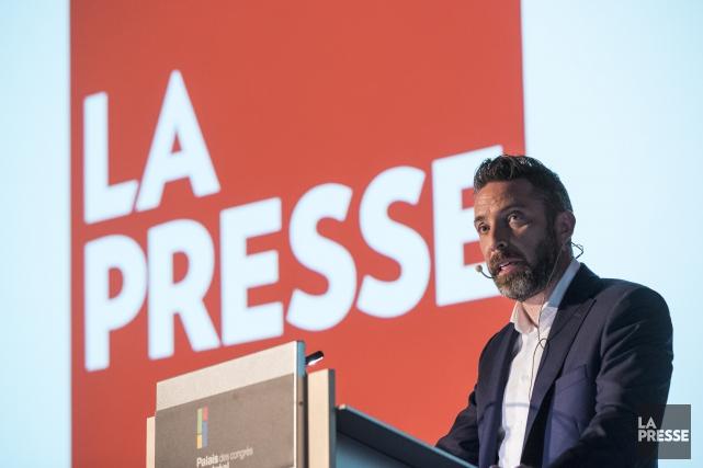 Le président de La Presse, Pierre-Elliott Levasseur.... (Photo Hugo-Sébastien Aubert, La Presse)