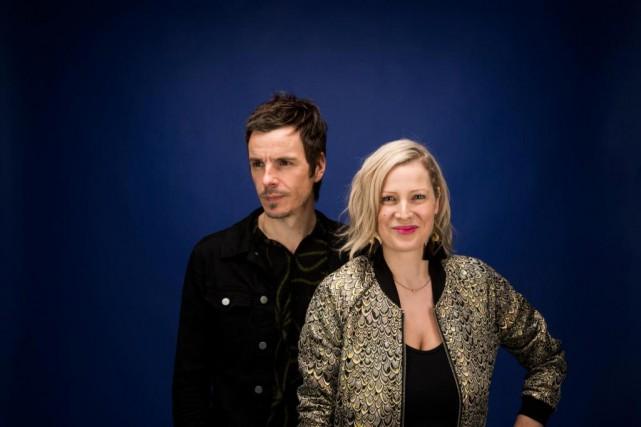 David Bussières et Justine Laberge ont eu deux... (PHOTO MARCO CAMPANOZZI, LA PRESSE)