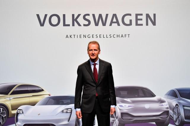Le nouveau PDG du Groupe Volkswagen, Herbert Diess,... (photo AFP)