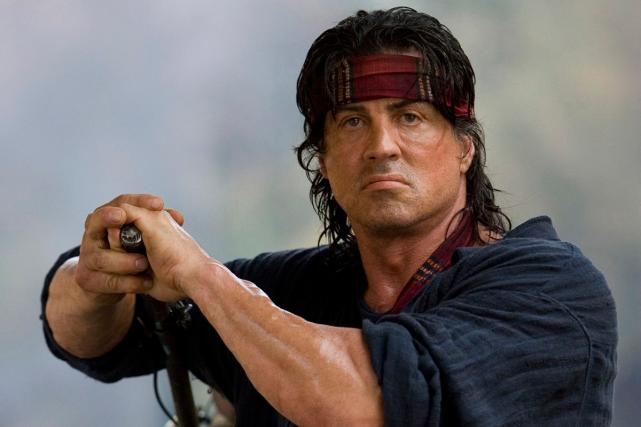 Sylvester Stallone dans une scène de Rambo.... (Photo archives AP)