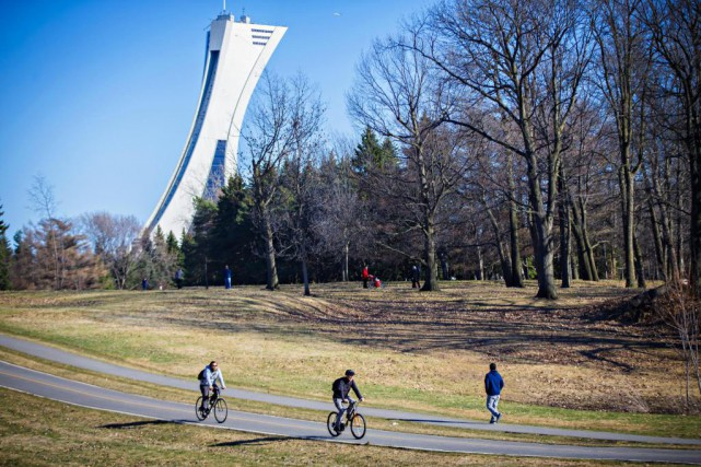 Le parc Maisonneuve et le Parc olympique borde... (Photo Olivier Jean, Archives La Presse)