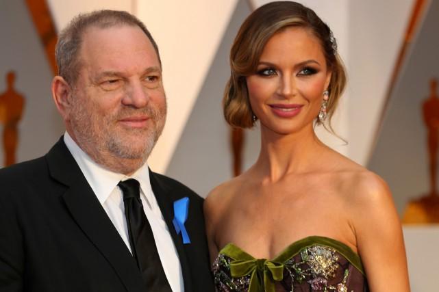 Harvey Weinstein et sa femme Georgina Chapman lors... (PHOTO ARCHIVES REUTERS)